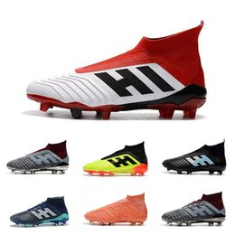 Footballs Shoes Australia - 2019 Discount Soccer Shoes High Quality Predator 18.1 18+ FG Football Boots Outdoor Tango 18+ TF AG Soccer Cleats Wholesale Fast Delivery