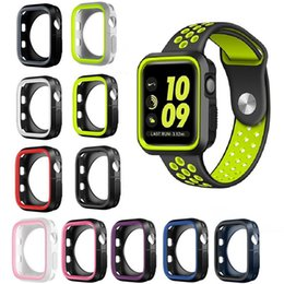 Wrist For Watches Australia - Protective Wrist Watch Case With Double Color 42mm 38mm 40mm 44mm iWatch Full Protective Soft Silicone Cover For Apple Watch 4 123 Watch