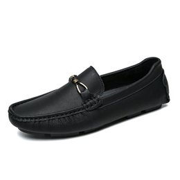 $enCountryForm.capitalKeyWord Australia - 2019 New Soft Genuine Leather Men Casual Shoes Luxury Slip On Mens Loafers Moccasins Breathable Black Driving Shoes