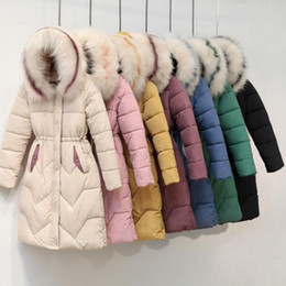Wholesale fur hooded parka coats ladies for sale - Group buy Winter Women Hooded Coat Female Plus Size Parka Outerwear Ladies Fur Collar Thicken Warm Long Jacket Feminino