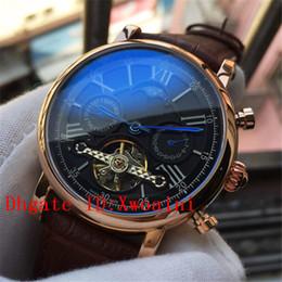 $enCountryForm.capitalKeyWord Australia - Mens Watches Top Luxury Swiss Brand Watch Automatic Mechanical Watches Tourbillon Classic Calendar Watch Week Brown Leather Gold WristWatch