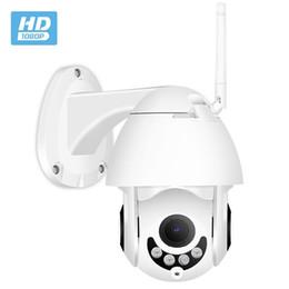 Toptan satış Sıcak Hareket Algılama Açık Dome PTZ 1080 P IOS Android Cep Telefonu Görüntüle Wifi IP Güvenlik CCTV P2P Kamera Kablosuz Ağ
