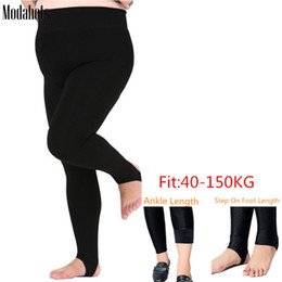 6xl leggings NZ - Plus Size Winter Women Leggings Thick Velvet Super Big Sizes 6XL Legging Black Luster Warm Stretchy Fat MM Ankle Length Pants Y200328