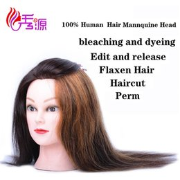 $enCountryForm.capitalKeyWord NZ - 518 Type Natural Color 100% Real Human Hair Training Head Can Be Curled Dyed Bleached Hairdressing Mannequin Head Dolls With 100% Human Hair
