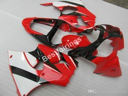 Red White Kawasaki Australia - Free 7 gifts fairing kit for Kawasaki Ninja ZX6R 00 01 02 red white injection mold fairings set ZX-6R 2000 2001 2002 FX26