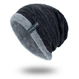 b8a89b75 2018 Men Winter Hat Knitted Beanie Men's Hip-Hop Cap Bonnet Femme Warm Plus  Velvet Turban Skullies Thick Gorro Hats For Women