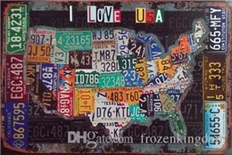 Route 66 Metal Wall Art Australia - love usa route 66 day mancave plinup girl 20*30cm motorbicycle Tin Sign Coffee Shop Bar Restaurant Wall Art decoration Bar Metal Paintings
