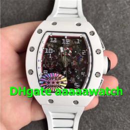 $enCountryForm.capitalKeyWord NZ - KVF Luxury Watch 011 Watch A7750 Automatic Chronograph White Ceramic Case White Inner Bezel Black Red Skeleton Dial Rubber Strap Men Watch
