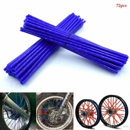 spoke decoration NZ - For Universal Motorcycle Wheel Rim Spoke Skin Covers Wrap Tube Decoration FOR KTM 300 450exc 250f 125sx 250 exc