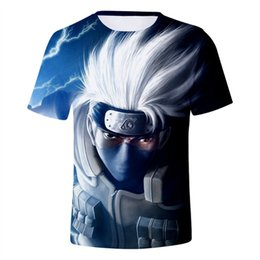 T Shirt For Men Size 5xl Australia - Hot Anime Naruto T Shirts for Men 3D Print Short Sleeve Pullover Regular Fit Casual T-Shirt 8 Styles Plus Size 5XL