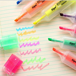 Highlighter Pen Colors Australia - 7 Colors Candy color Highlighter Colorful watercolor marker pen Kawaii Stationery office school writing supplies