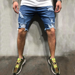 $enCountryForm.capitalKeyWord Australia - Yfashion Men Jeans Shorts Fashion Blue Denim Ripped Shorts Summer Fashion Mens Clothes Streetwear