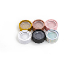 Wholesale Boxes Packaging Australia - Seashine Hot Selling 10 Pcs Package Colourful Round Boxes And Flash Of Light Empty Boxes Not lashes Accept Privatre Lable For Free Shipping