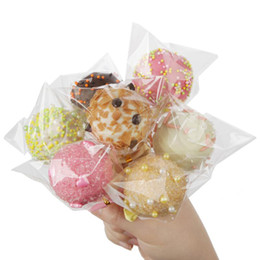 $enCountryForm.capitalKeyWord UK - Transparent Cookie Lollipops Candy Bag Wedding Party Supplies Clear Gift Bag Biscuits Snack Baking Packaging Plastic Bags 300PCS set