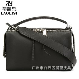 Single Cables Australia - Lucky2019 Woman Bag Soft Leather Pillow Leisure Time Width Straps Single Shoulder Package Concise All-match Cable Satchel Tide