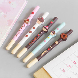 $enCountryForm.capitalKeyWord Australia - Fruit Chocolate Biscuit Shape Ballpoint Pen Kawaii Roller Ball Gel Pens Stationery Office School Supplies free shipping