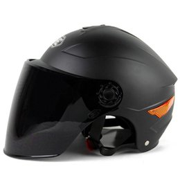 Yohe Half Helmets Australia - 2018 YOHE YH-357-G motorcycle Helmet Half Face motorbike motorcycle helmet electric bicycle helmets In the summer with dual lens 5 colors