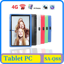 tablet pc windows dual core NZ - 12X 7 inch Capacitive Allwinner A33 Quad Core Android 4.4 dual camera Tablet PC 8GB RAM 512MB ROM WiFi EPAD Youtube Facebook Google DHL ship