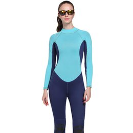 diving suit 3mm UK - New 3MM Wetsuits neoprene spearfishing diving suit women wet suit surfing windsurf sports suits swimsuit onesies surf dive