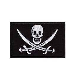 $enCountryForm.capitalKeyWord Australia - Computer embroidery Skull and pirate sword logo Captain Jack Embroidered iron on or sew on patch for Jacket Jeans Clothing Badge