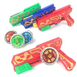 WJ1036 New kids versus gyro gun toy set dazzle with light and glow classic gyro plastic kid's toy Beyblades Launchers wholesale on Sale