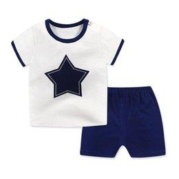 Red White Blue Tutus UK - 2019 Children's Clothing Set Cartoon Short-Sleeved Shorts Baby Boy Girl
