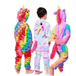 $enCountryForm.capitalKeyWord Australia - Cute Unicorn Nightgowns Baby Girls Bathrobe Flannel kids Hooded One-piece Pajamas Children Night Wear Clothes Home Cosplay Pajamas LT1514