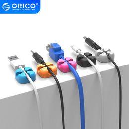 Winder Orico 10pcs colorido Winder fio armazenamento Silicon Cabo gerente Titular mesa arrumada Organizador Digital Cable Para em Promoção