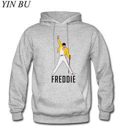 Wholesale funny hoodies sale online – oversize Men s Freddie Mercury New Hot Sale Print Men s Hoodie Funny Streetwear Men Autumn Casual Hoodies Sweatshirts Pullovers Tops