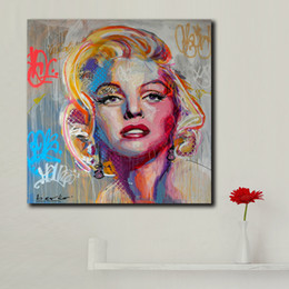 Marilyn Monroe Canvas Prints Australia - 1 Piece Large Size Art Painting Marilyn Monroe Canvas Art Poster Prints Painting For Living Room and Bedroom Decoration No Framed