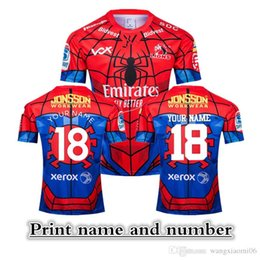Flash Marvel Jersey NZ - 2019 NEW ZEALAND Super RUGBY Lions SPIDER-MAN MARVEL RUGBY JERSEY size S-3XL Print name and number Top quality free shipping