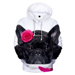 Men's Clothing New Fashion Cute French Bulldog Print 3d Hoodies Pullover Men Women Capless Sweatshirt Casual Long Sleeve 3d Hoodie Clothes Tops
