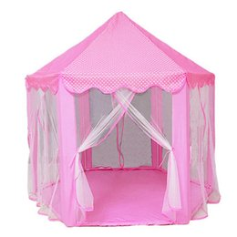 dolls house animals Australia - Play Fairy House Indoor And Outdoor Kids Play Tent Hexagon Princess Castle Playhouse For Girls Funny Dolls Mongolian Tent