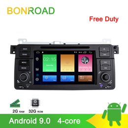 m3 player Canada - Bonroad Car DVD Player For E46 M3 318 320 325 330 335 Rover75 Coupe Car GPS Navigation Multimedia Player DSP Bluetooth RDS
