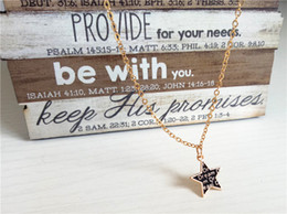 Rose Gold Pendants For Women Australia - cecmic rose gold plate black star pendant locket mens necklace jewelry for men and woman girls gift