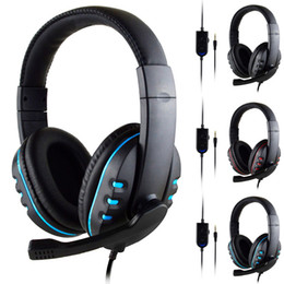 play stations games 2021 - Headphones 3.5mm Wired Gaming Headset Earphones Music Microphone For PS4 Play Station 4 Game PC Chat computer With Microphone