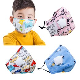 Discount air respirator mask In Stock Kids Design Face Mask with Breathing Valve Masks Anti-Dust Waterproof Dust Air Pollution Protection Respirator