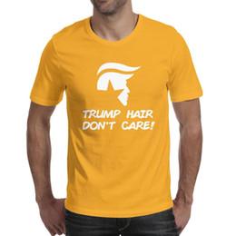 $enCountryForm.capitalKeyWord Australia - Men design printing trump hair don't care punisher yellow t shirt printing personalised vintage superhero friends shirts awesome t shirt