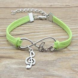 $enCountryForm.capitalKeyWord Australia - Infinity LOVE Bracelet Musical Note Bracelet Tibetan Silver Art Bracelet Fashion Velvet Cord Cuff Bangle Men Woman Jewelry Friendship Gift