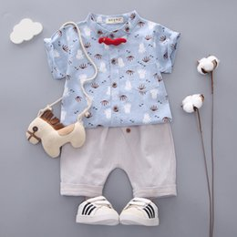 $enCountryForm.capitalKeyWord NZ - Summer Baby Boy Girl Clothes Infant Tie Cartoon Octopus Pattern T-Shirt Shorts 2pcs sets Children Clothing Kids Casual Tracksuit