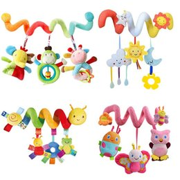 Baby Seat Toys NZ - Early Development Soft Infant Crib Bed Stroller Toy Spiral Baby Toys For Newborns Car Seat Hanging Bebe Bell Rattle Toy For Gift