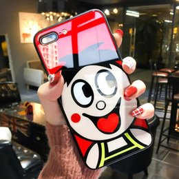 Discount vivo transparent phone - Luxury Quality Designer Cartoon Tempered glass Phone Cases For iPhone X XR XS Max 8 7 6 6s Plus OPP Vivo TPU Super Shell