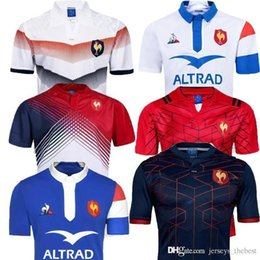 Top quality 2018 2019 New France Super Rugby Jerseys 18 19 France Shirts Rugby Maillot de French Rugby Jersey Size S-3XL from nylon knit fabric manufacturers
