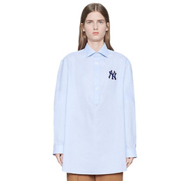 Women s business shirts polyester online shopping - 19SS Italy NY Solid Shirts Men Women Outwear Fashion Street High End Business T Shirt Simple School Jacket Shirts HFYMJK217