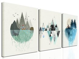 $enCountryForm.capitalKeyWord Australia - Abstract Mountain in Daytime Canvas Prints Wall Art Paintings Abstract Geometry Wall Artworks Pictures for Living Room Bedroom Decoration