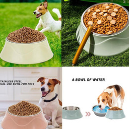 Discount cat stainless steel feeder Pets Supplies Stainless Steel Pet Bowl Dog Puppy Cat Feeder Drinking Food Water Non-Slip Bowl Pet Cat Supply