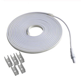 Wholesale 24 Volt LED Neon Strip IP67 DC24V Flexible Light X10mm Flat Surface Neon Rope for Outdoor Waterproof Tape Neon Sign DIY M Blue White