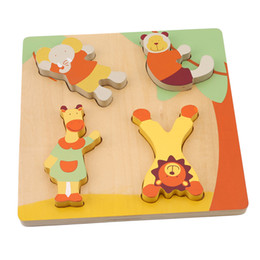 $enCountryForm.capitalKeyWord NZ - 1 Set Children' S Wooden Puzzles Toy Cartoon Animal Matching Game children's Early Educational Intelligence Toys Gifts