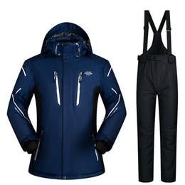 Winter Snow Suits Australia - Ski Suit Men Winter 2019 Waterproof Windproof Thicken Super Warm Snow Clothes Men Ski Sets Jacket PantsSkiing And Snowboarding Suits Brands