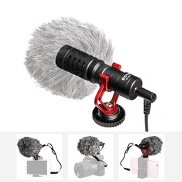 Dslr Camera Professional Australia - Professional Cardioid Condenser Microphone Studio Sound Mini 3.5mm Video Mic for Phone Tablet PC Canon Nikon Sony DSLR Camera Camcorder